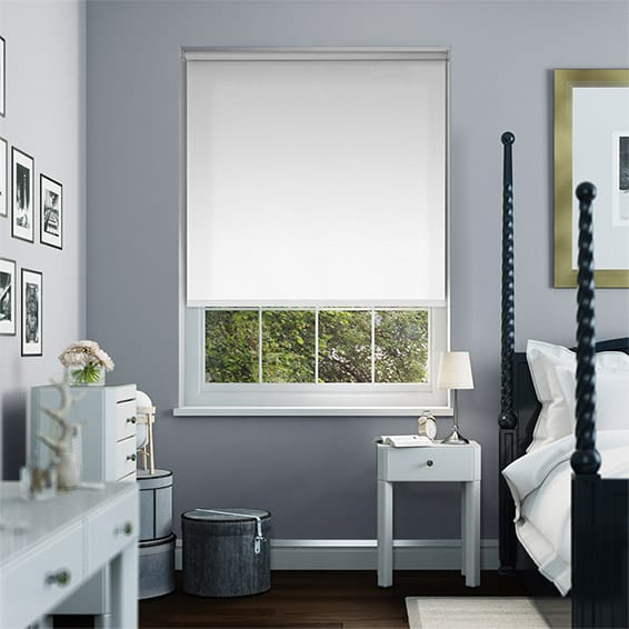 prism pure white 50 roller blind 1